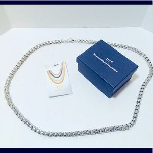 Stainless Steel Rope Chain Necklace - NWT